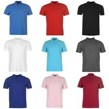 Mens Pierre Cardin Designer Plain Polo Shirt Short Sleeves Collar Size S to 4XL