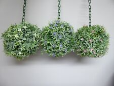 Artificial Outdoor Topiary Hanging Flower Ball Buxus Boxwood Large 20cm
