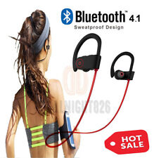 Sweatproof Headphones Wireless Bluetooth Sport Earphones Stereo Headset New