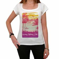 Hung Shing Yeh Escape to paradise Femme T-shirt Blanc  00280
