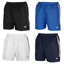 Mens Lonsdale 2 Stripe Woven Shorts Zip Pockets Drawstring sizes S to 2XL New