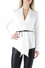 *72895 CARDIGAN DONNA  SEXY WOMAN COLORE BIANCO