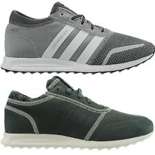 Adidas Los Angeles men's low-top sneakers mesh gray or leather green casuals NEW