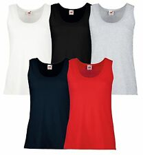 Fruit of the Loom Mujer Lady-Fit Valueweight Camiseta DE TIRANTES DIFERENTES