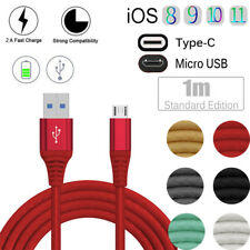 Type C/iOS/ Micro USB Fast Data Sync Charging Cable For Samsung LG Huawei Apple