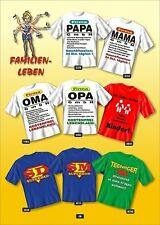 Fun COLLECTION Camiseta Familia Papa Mamá Abuelo Regalo Elección Estampado