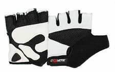 Coyote Road Gel Fingerless White Cycling Mitts