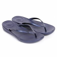 Fitflop™ Women's Iqushion™ Ergonomic Rubber Toe Post Flip Flop Midnight Navy