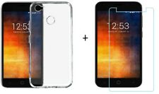 For Smartron t.phone P Back Cover Transparent Soft Silicon Case / Tempered Glass