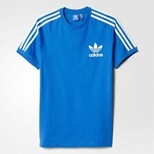adidas ORIGINALS CALIFORNIA TEE BLUEBIRD MEN'S T SHIRT TREFOIL CREW NECK NEW