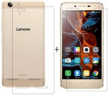 For Lenovo Vibe K5 Plus Back Cover Transparent Soft Silicon Case /Tempered Glass