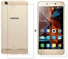 For Lenovo Vibe K5 Back Cover Transparent Soft Silicon Case /Tempered Glass