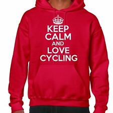 Keep Calm and Love CICLISMO Felpa con cappuccio