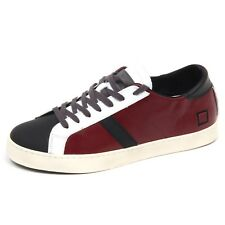 E3514 sneaker uomo bordeaux/nero D.A.T.E. PREMIUM HILL LOW scarpe shoe man
