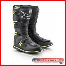 Stivali Moto Fuoristrada Cross Axo Drone Limited ed MX Off-road Nero Giallo Fluo