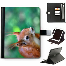 HAIRYWORM ANIMAL RED SQUIRREL 360 SWIVEL DELUXE LEATHER APPLE IPAD TABLET CASE