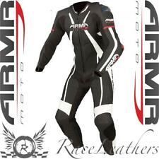 ARMR MOTO HARADA R BLACK RED WHITE LEATHER 1 PIECE MOTORCYCLE RACE RACING SUIT