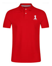 Hackett Men's New Classic Number 1 Logo Polo Shirt - Red