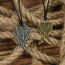 Angel's Wings Guardian Pewter Brass Charm Necklace Pendant Jewelry