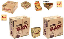 RAW ROLLING PAPERS - TIPS - CONNOISSEUR - CLASSIC-ORGANIC - TINS - FULL BOXES