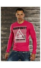 T-shirt manica lunga con stampa keep out