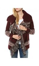Cardigan donna Superdry rosso misto lana