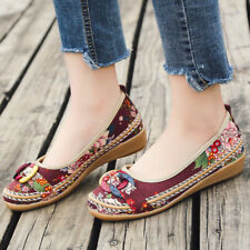 New Women's Ethnic Lace Up Beading Round Toe Flats Colorful Loafers Shoes Trendy