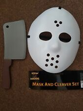 Halloween Jason Mask & Cleaver Set Fancy Dress Accessories Lot Buy Available