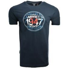 LAMBRETTA CLOTHING 1947 TARGET T-SHIRT NAVY, NEW! MOD-SKINHEAD-CASUAL-SCOOTER