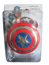 COLLECTABLE RED CAPTAIN AMERICA SHIELD MARVEL SUPERHERO METAL WEAPON UK SELLER