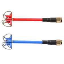 2pcs 5.8GHz FPV 4-Leaf Clover SMA/RP-SMA Connector AV Transmission TX RX Antenna