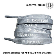 "Premium ""Boosted Up"" Ultra Boost, NMD, Yeezy, EQT Sneaker Schnürsenkel in Grau"