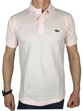 Lacoste L1212 Mens S/S Logo Branded Polo Shirt in Flamingo Pink
