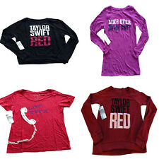 NWT Taylor Swift 'Red Tour' Black or Red Sweatshirt 'Like Ever' Shirt Small