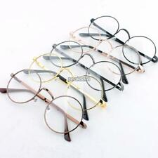 Women Men Oversized Metal Frame Clear Lens Round Circle Eye Glasses 6Color TOP+