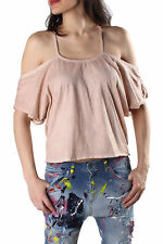 *86654 TOP DONNA  SEXY WOMAN COLORE BEIGE