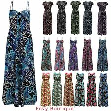 Ladies Womens Celebrity Tropical Floral Rose Lace Long Summer Casual Maxi Dress
