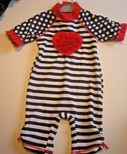 BRAND NEW GIRLS ALL I N ONE SUN SUIT T Age 3-6    months UPF 40+