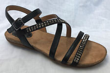 BNIB Clarks Ladies Autumn Peace Black Leather Sandals