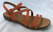 BNIB Clarks Ladies Autumn Peace Orange Leather Sandals