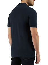 Farah Blaney Mens Polo Shirt in Navy Blue