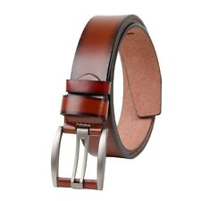 New Smooth & Plain Brown Formal/ Casual Leatherette  Belt for Men's