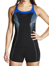 Speedo Fit Kickback Tankini Set Top & Bottoms Non Wired Bust Support