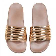 Slydes Womens Port Quilted Slides (Gold)