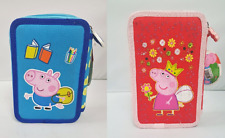 Peppa Pig Filled Pencil Case Triple Tier 44 Piece Child's School Stationary Set