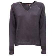 7332V maglione donna SUN 68 extrafine wool grey sweater woman