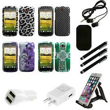For HTC One S Design Snap-On Hard Case Phone Skin Cover Combo
