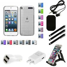 For Apple iPod Touch 5th 6th Gen TPU Rubber Skin Flexible Case Phone Cover Combo