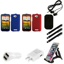 For HTC One VX Snap-On Hard Case Phone Skin Cover Accessory Combo