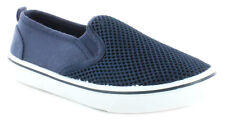 New Older Boys/Childrens Navy Rockstorm Marc Slip Ons Skater Style Sho UK Size